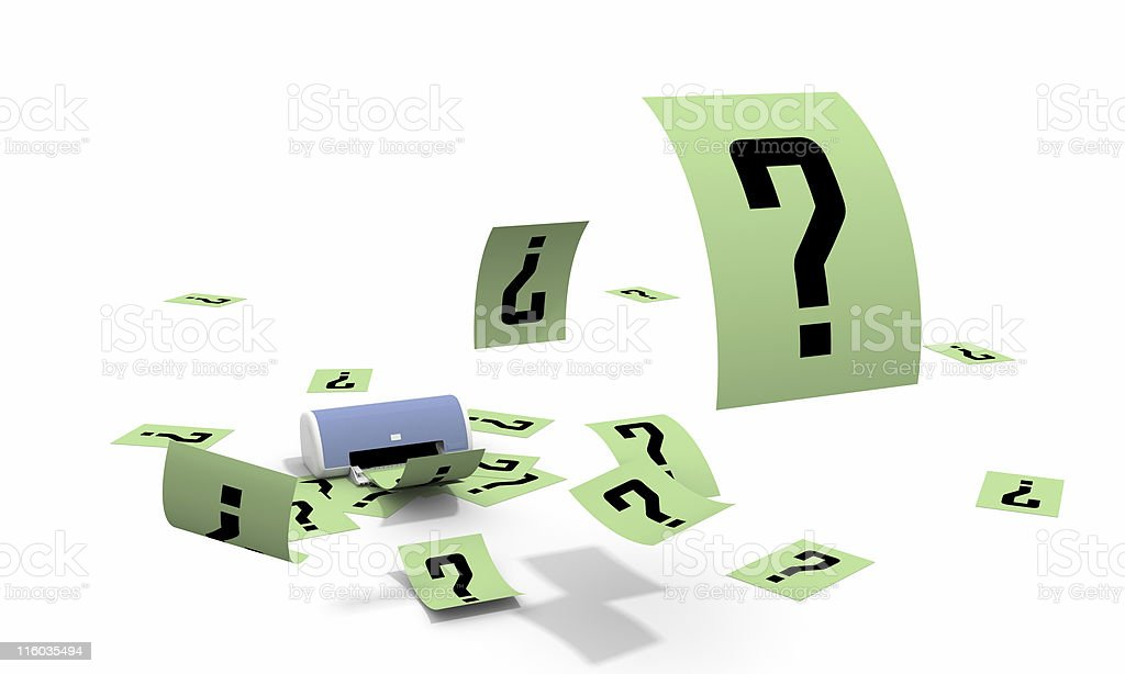 It is a lot of questions royalty-free stock photo