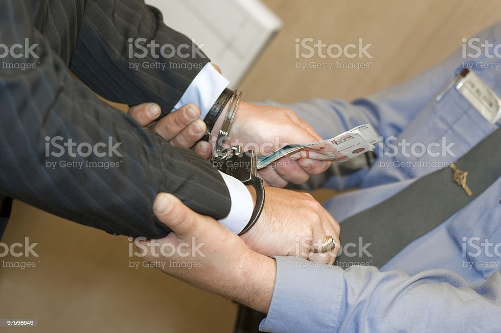 It is detained at bribe reception royalty-free stock photo