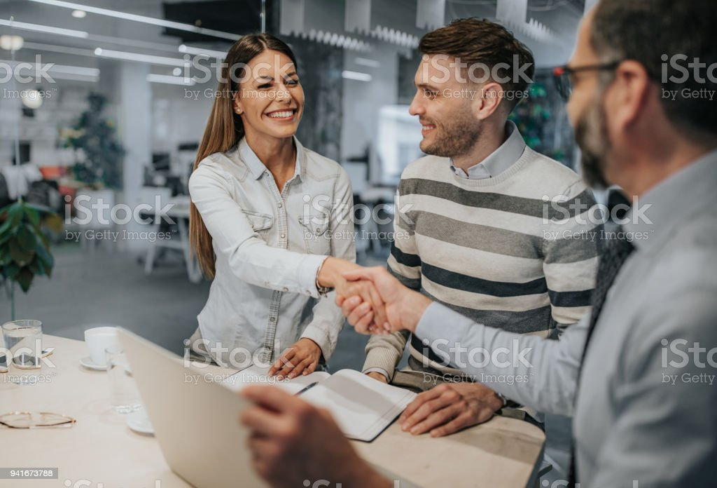 It is done then, we have a deal! stock photo