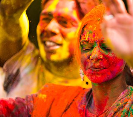 It is holi let us dance