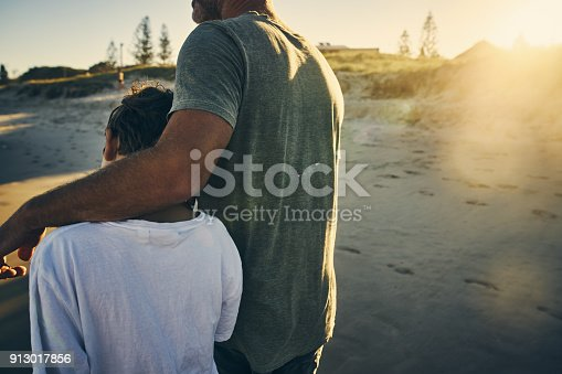 Shot of a father and son enjoying a day outdoors