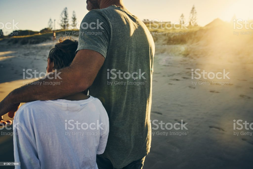 It is important to have father and son time stock photo
