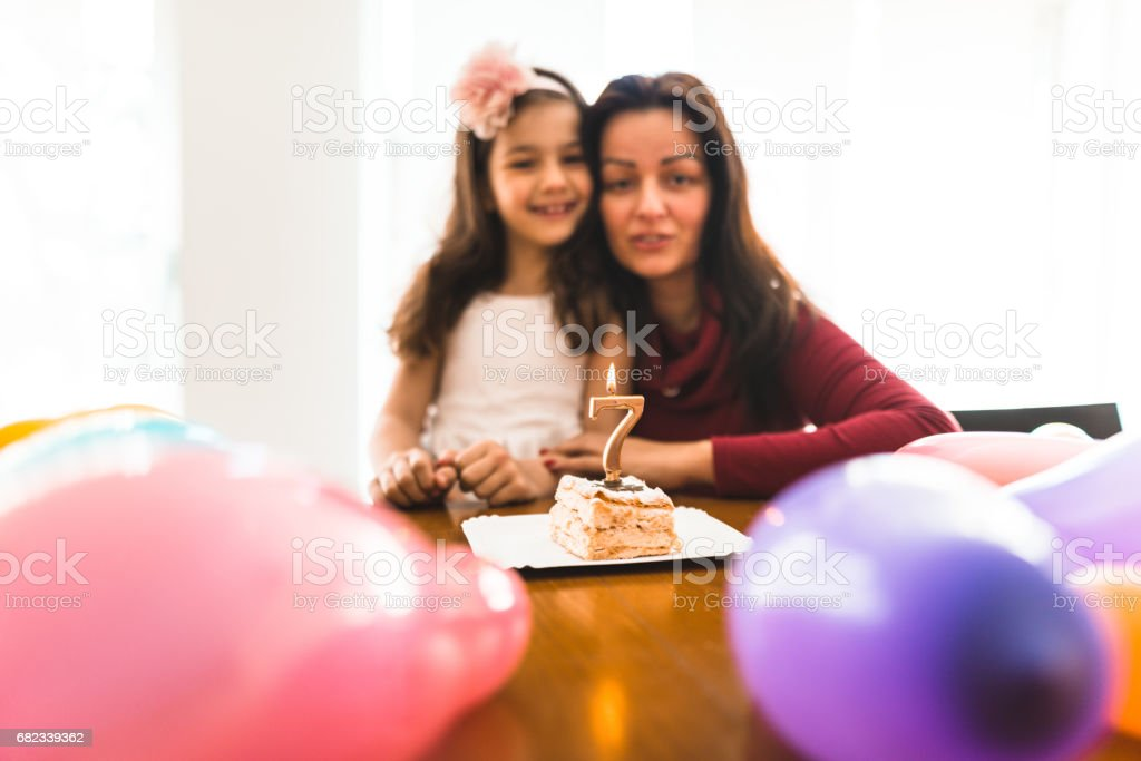 Det är födelsedag dotter royaltyfri bildbanksbilder