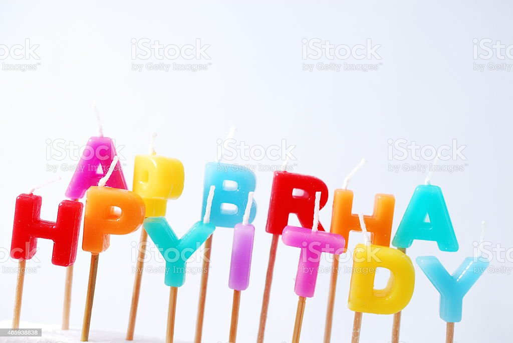 It is the candle of the birthday. stock photo