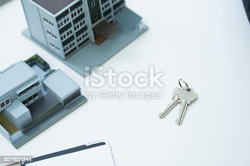 istock It is the model of the house and the key of the house. 827881344