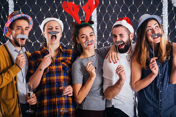it is time for mustaches - schnurrbart themenpartys stock-fotos und bilder