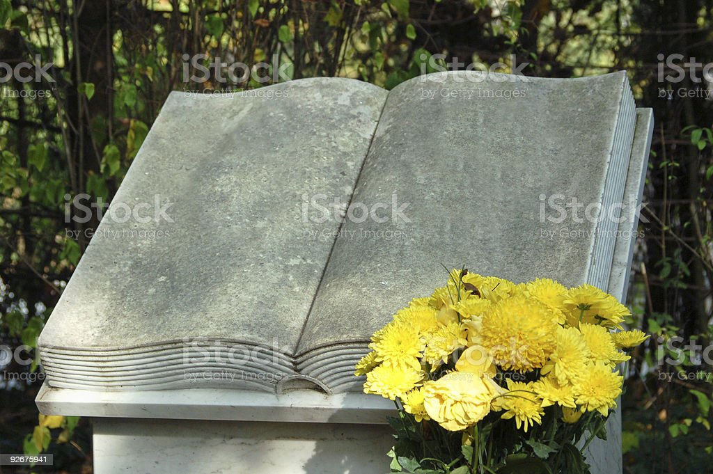 It is written in Stone stock photo