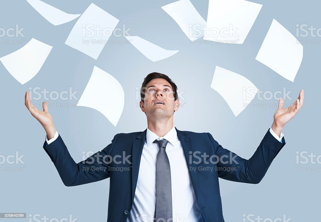 It just keeps coming! stock photo