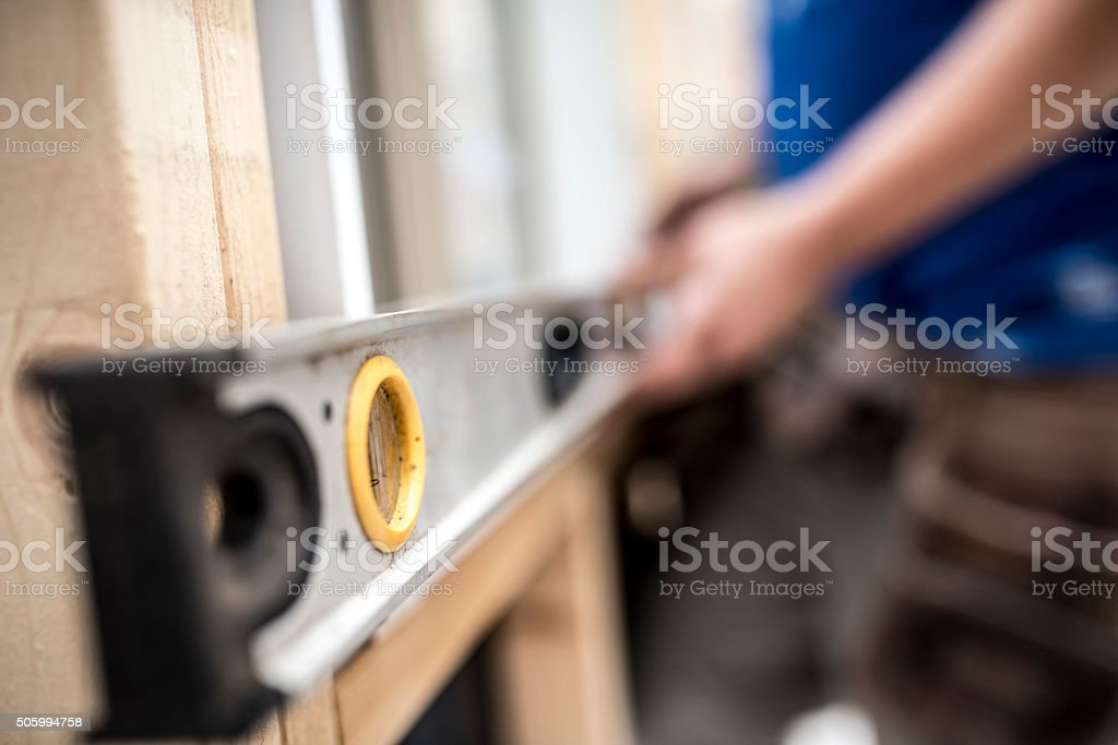 It looks straight to me! stock photo