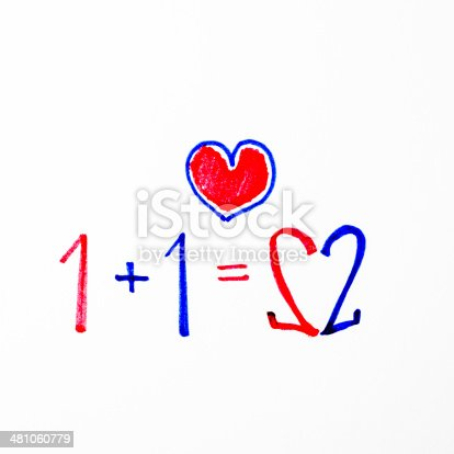 istock 1+1=2 it mean love 481060779