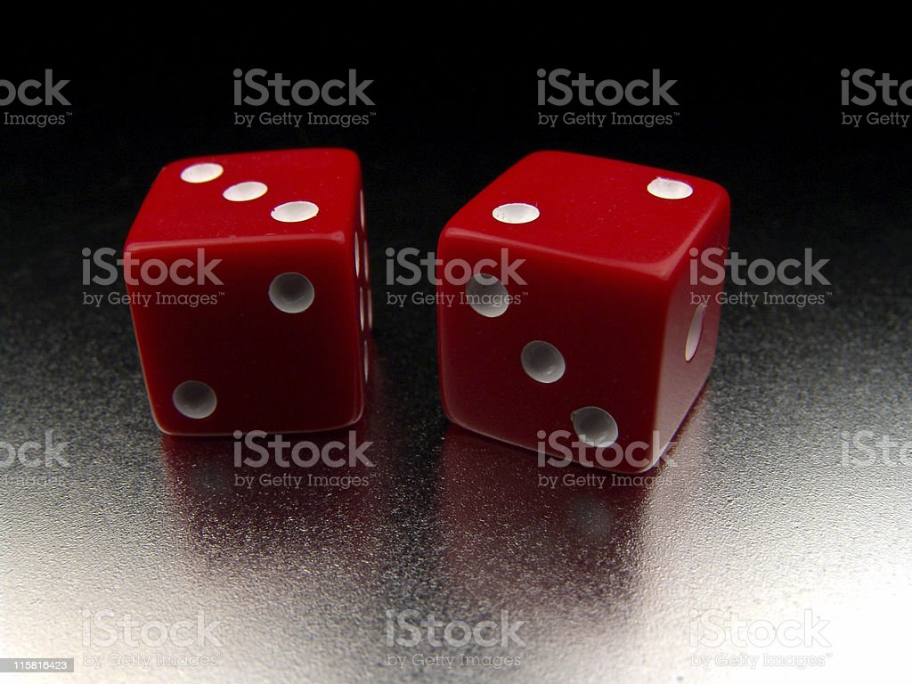 Dice, Red stock photo
