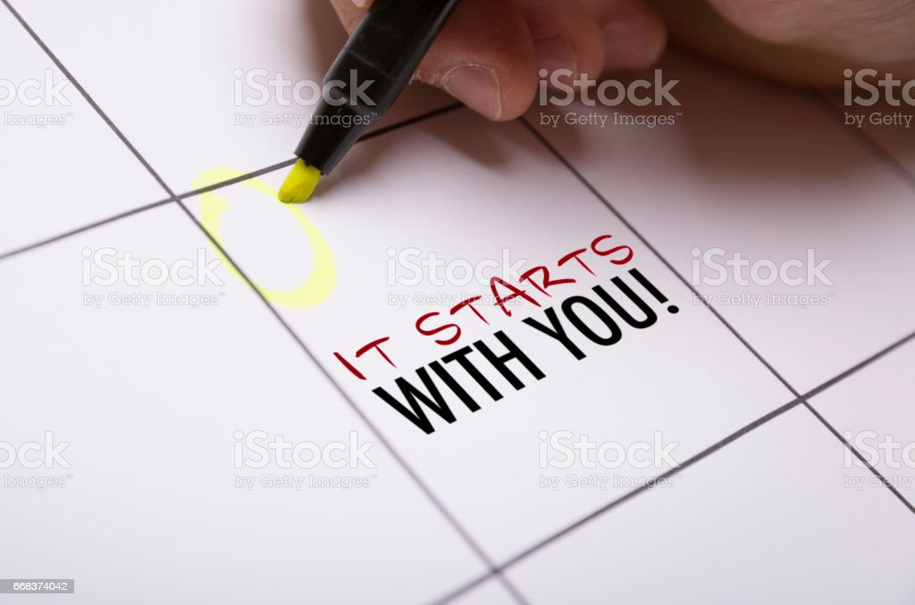 It Starts With You stock photo