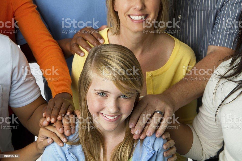 It takes a village to raise children stock photo