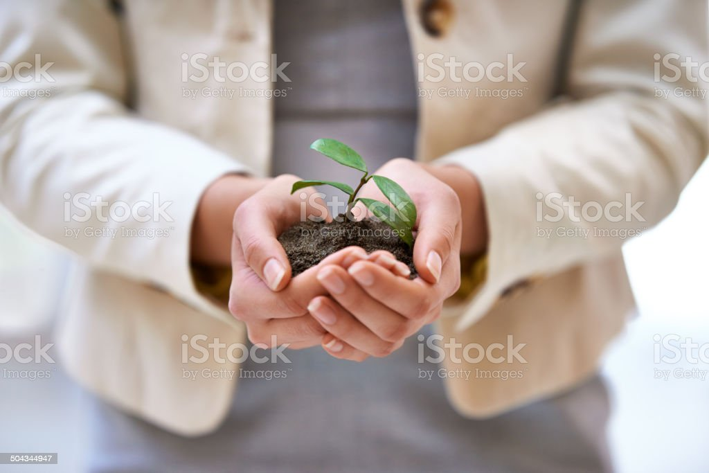 It takes time to build a business stock photo