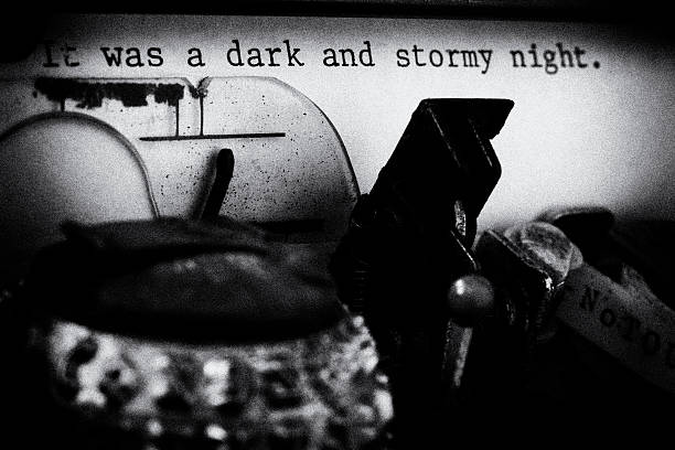 It was a Dark and Stormy Night - Film Noir stock photo