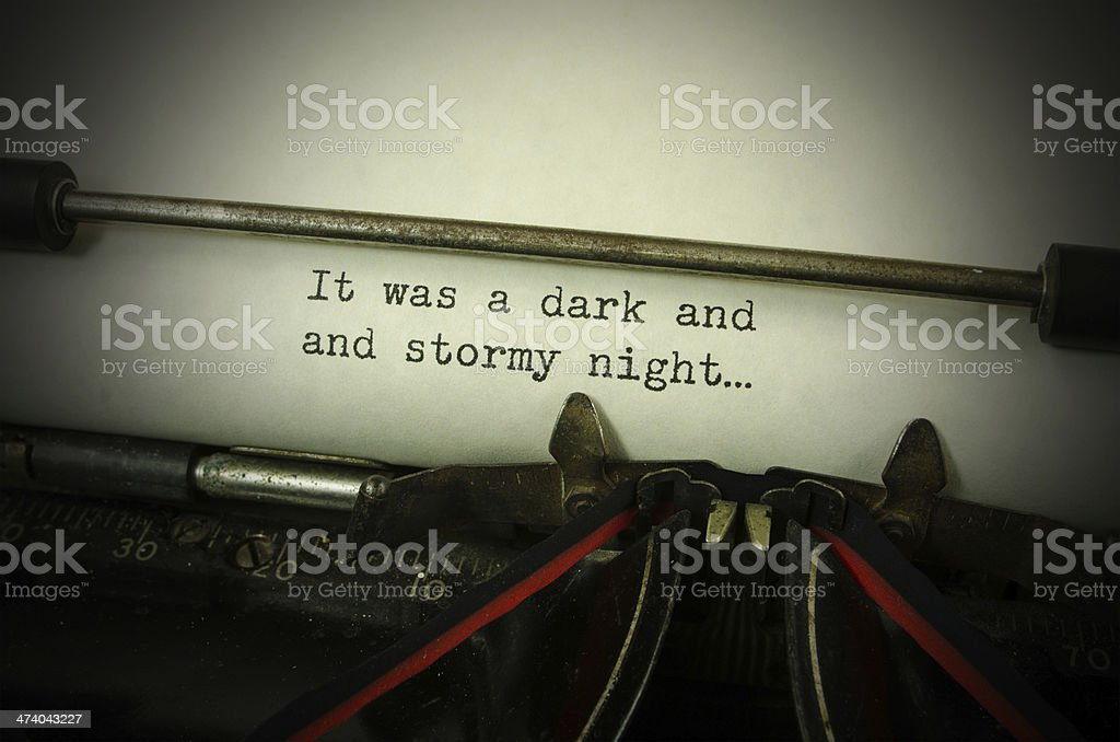 It Was a Dark and Stormy Night stock photo