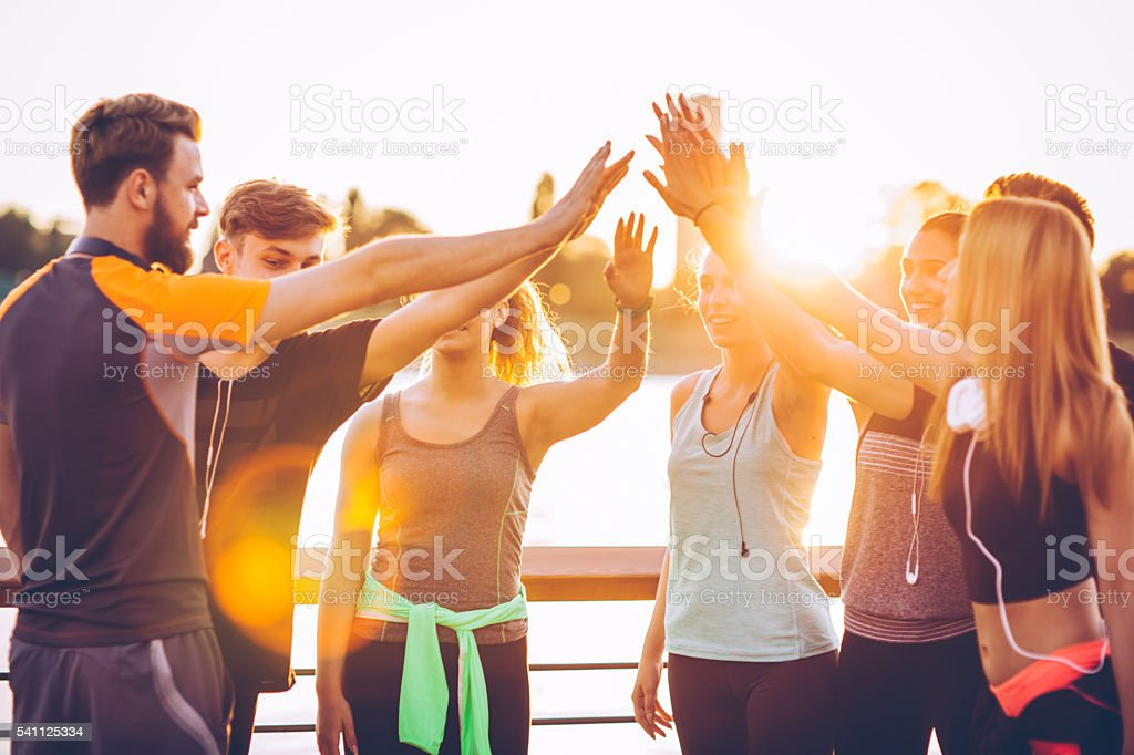 It was a successful workout. stock photo