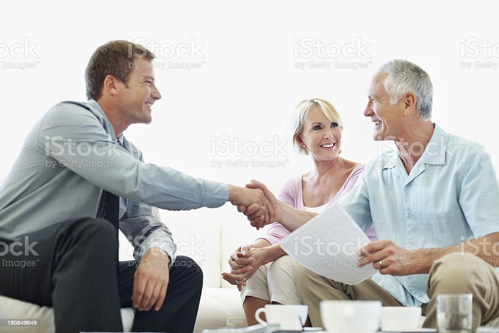 It was great seeing you again royalty-free stock photo
