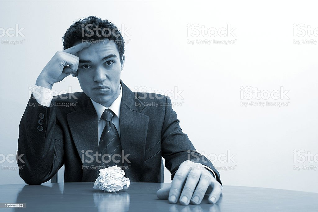 It was my contract ... series 2 royalty-free stock photo