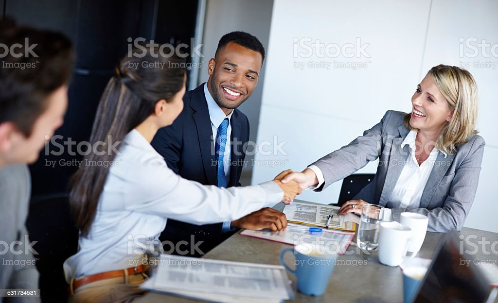 It was nice meeting you stock photo