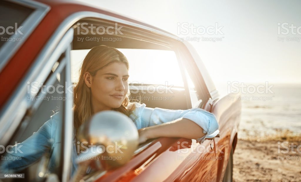 It was out here that she found herself stock photo