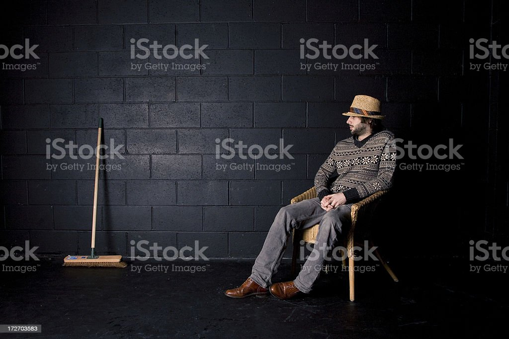 It wont sweep itself. royalty-free stock photo