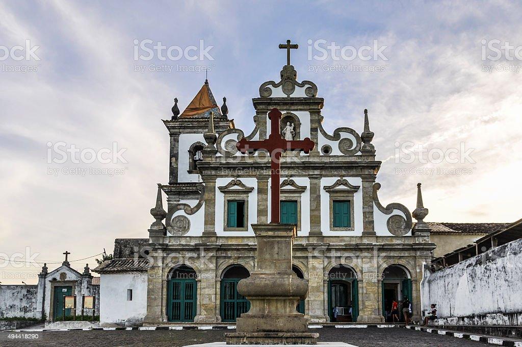 Itacare Church in Morro de Sao Paulo, Salvador, Brazil stock photo