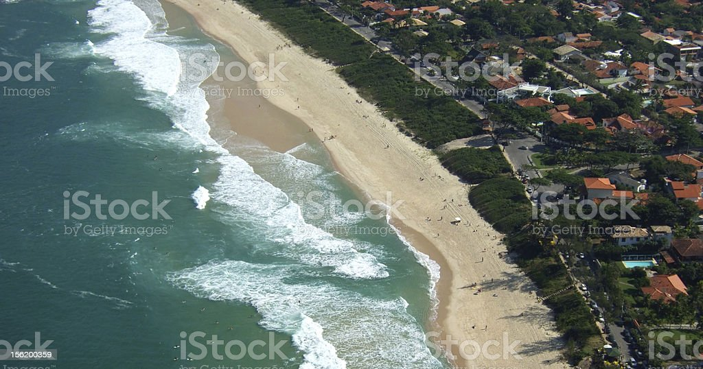 Itacoatiara beach view of Costao Mountain top royalty-free stock photo