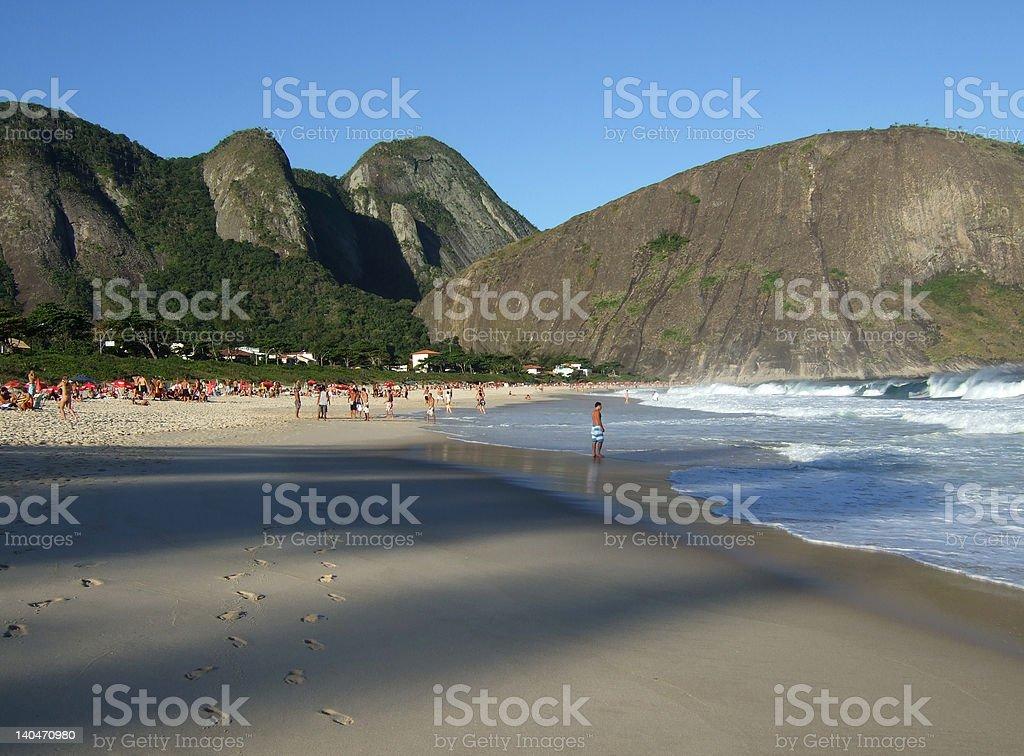 Itacoatiara beach view stock photo