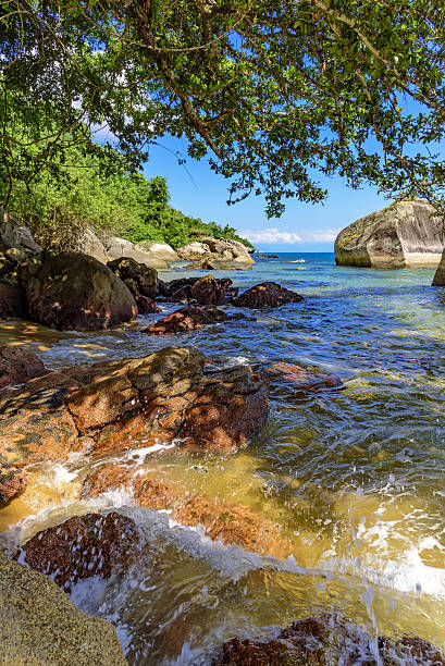Itaguacu beach stock photo