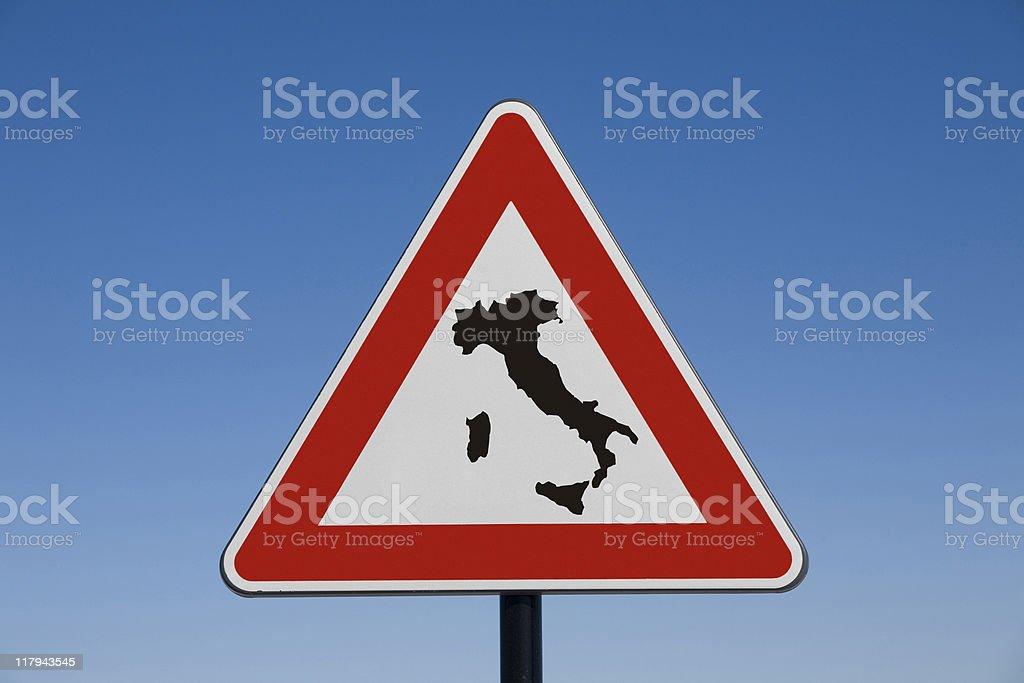 Italia a rischio royalty-free stock photo