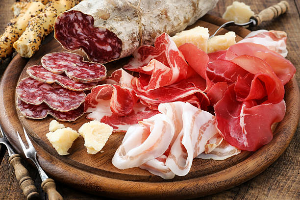 Italiam cured meat variety stock photo