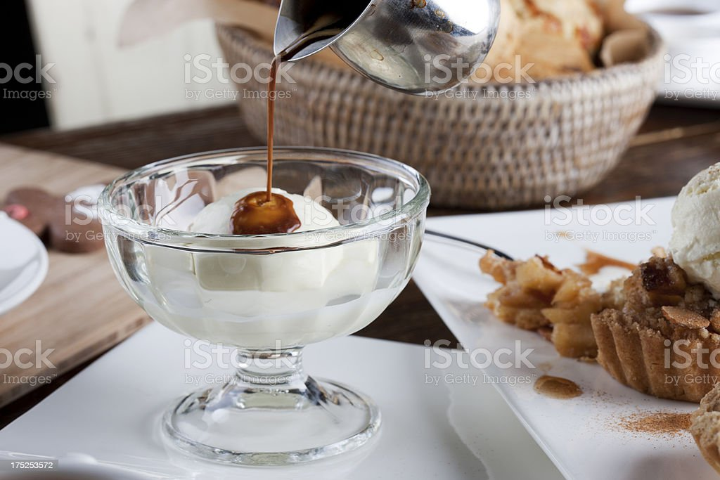 Italian Affogato Coffee Drink stock photo
