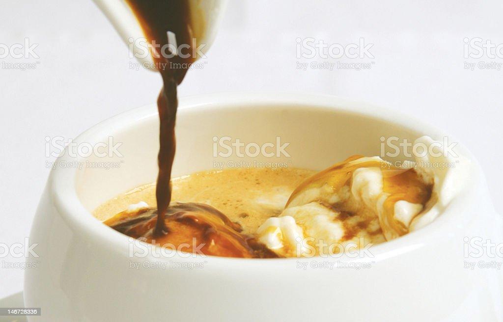 Italian Afogato Coffee Drink royalty-free stock photo