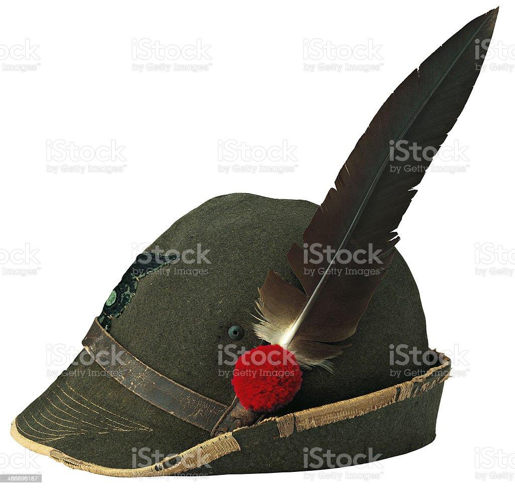 Italian alpine hat stock photo