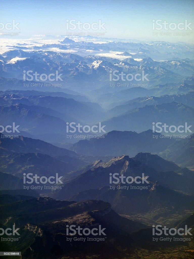 Italian Alps Aerial stock photo