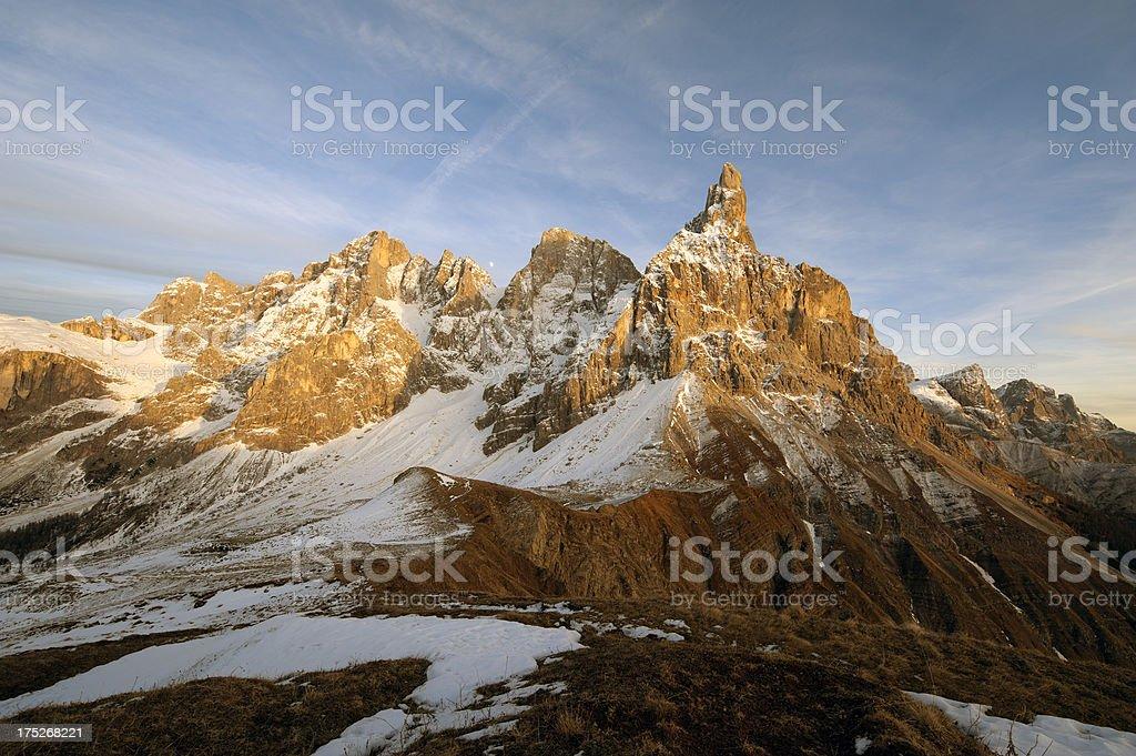 Italian Alps, Dolomites at sunset royalty-free stock photo