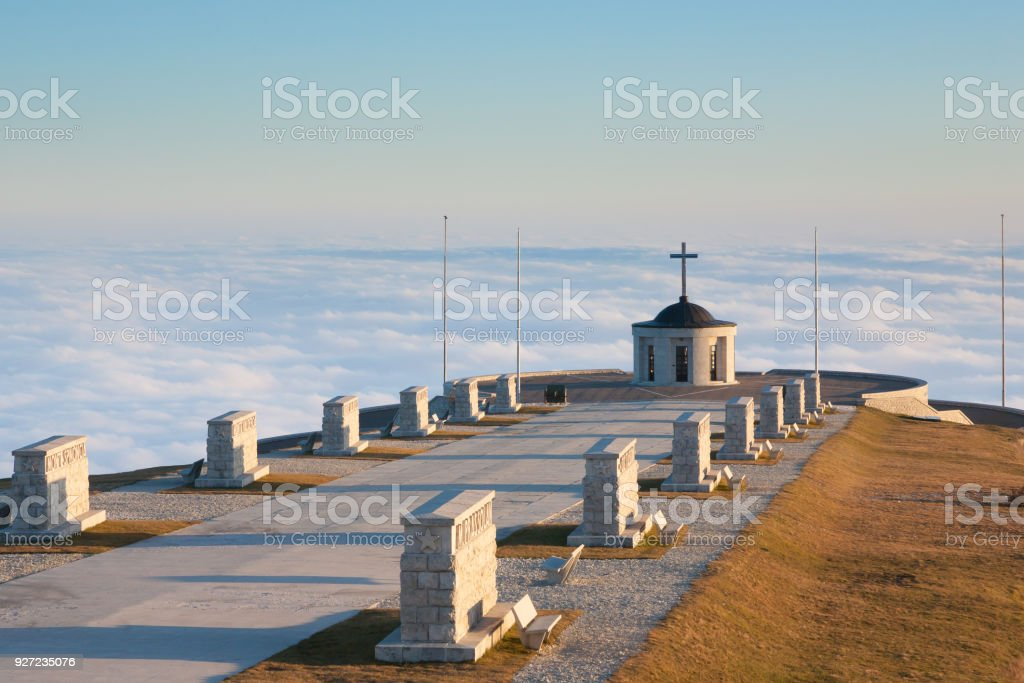 Italian alps landmark. First world war memorial - foto stock