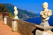 "Italian Amalfi Coast from Belvedere ""Terrace of Infinity"", Ravello"