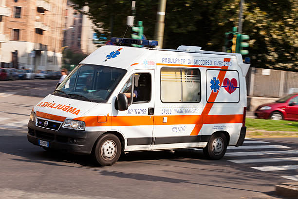 italian ambulance stock photo