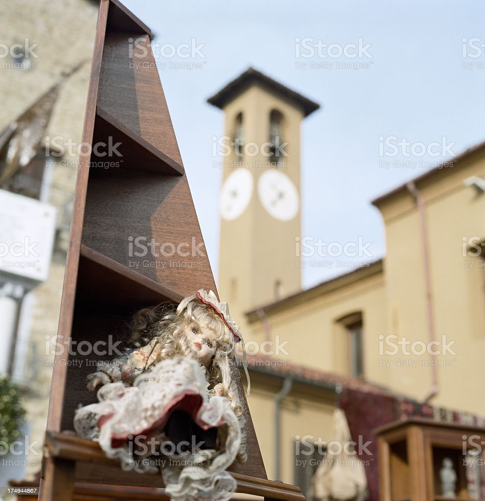 Italian antique market stock photo