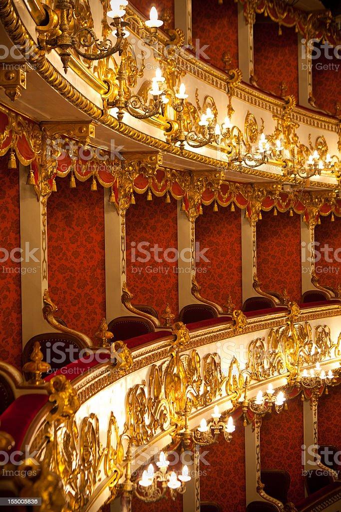 Italian antique theater stock photo