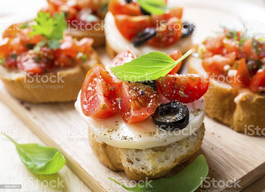 Italian Appetizer Bruschetta stock photo