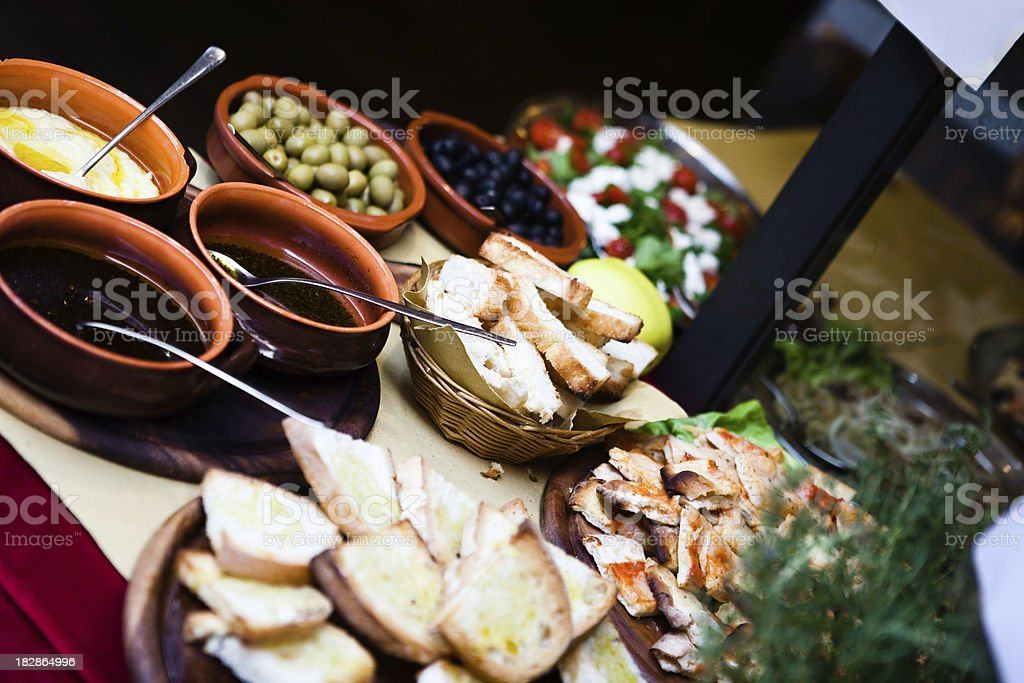 italian Appetizers royalty-free stock photo