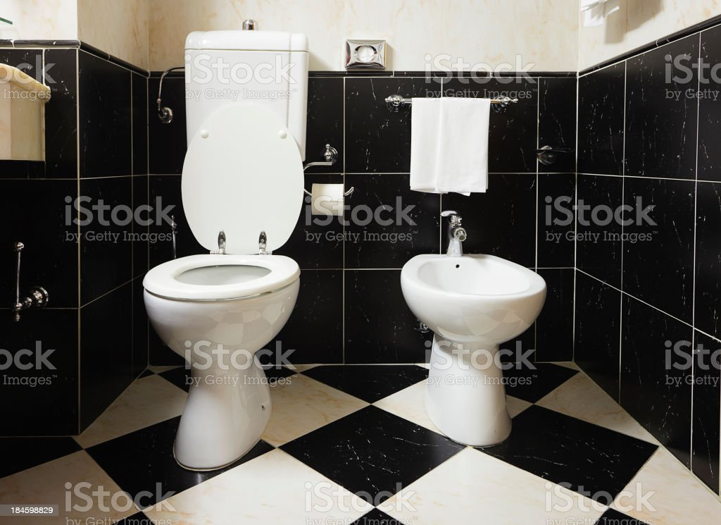 Italian Bathroom stock photo