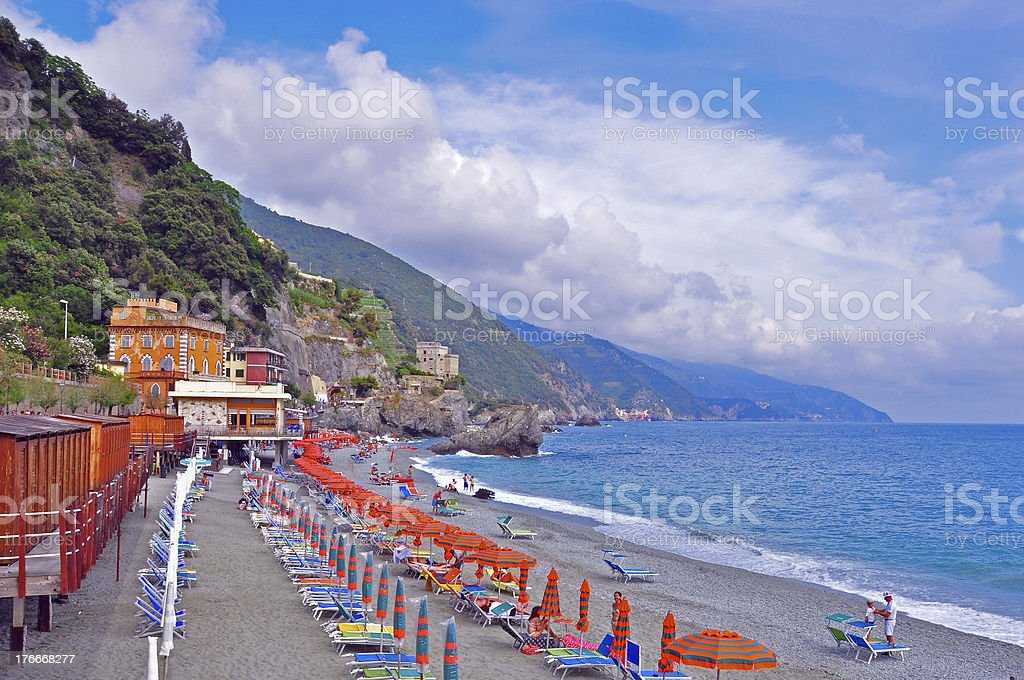 Italian beach royalty-free stock photo