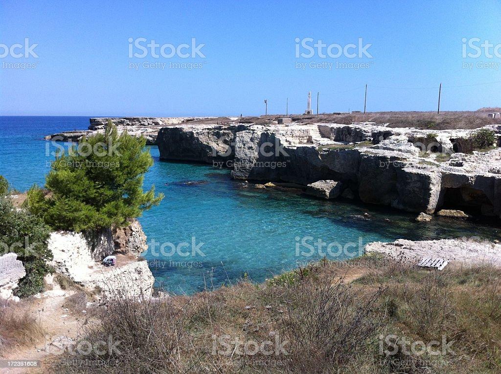 Italian beach rocky landscape royalty-free stock photo