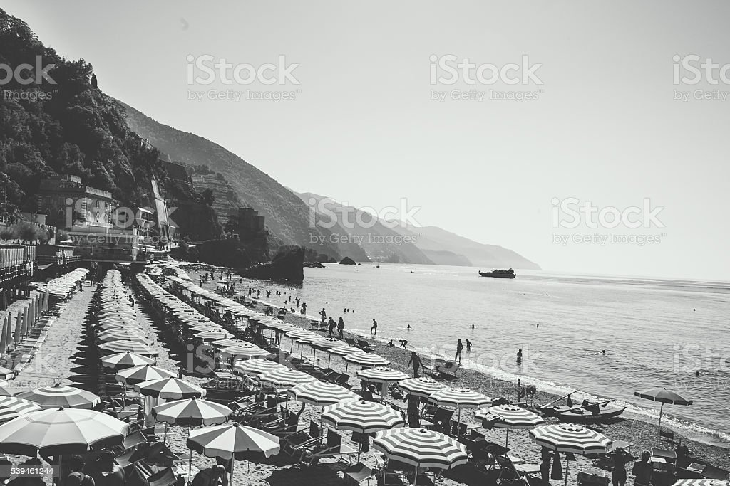 Italian Beach with vintage look stock photo