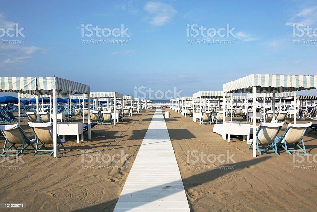 italian beach-club stock photo