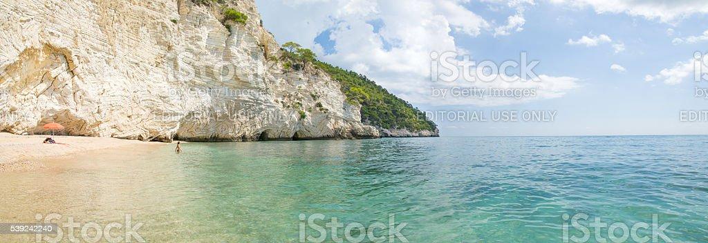 italiano playas de baia della Zagare-Vieste-Gargano Puglia foto de stock libre de derechos